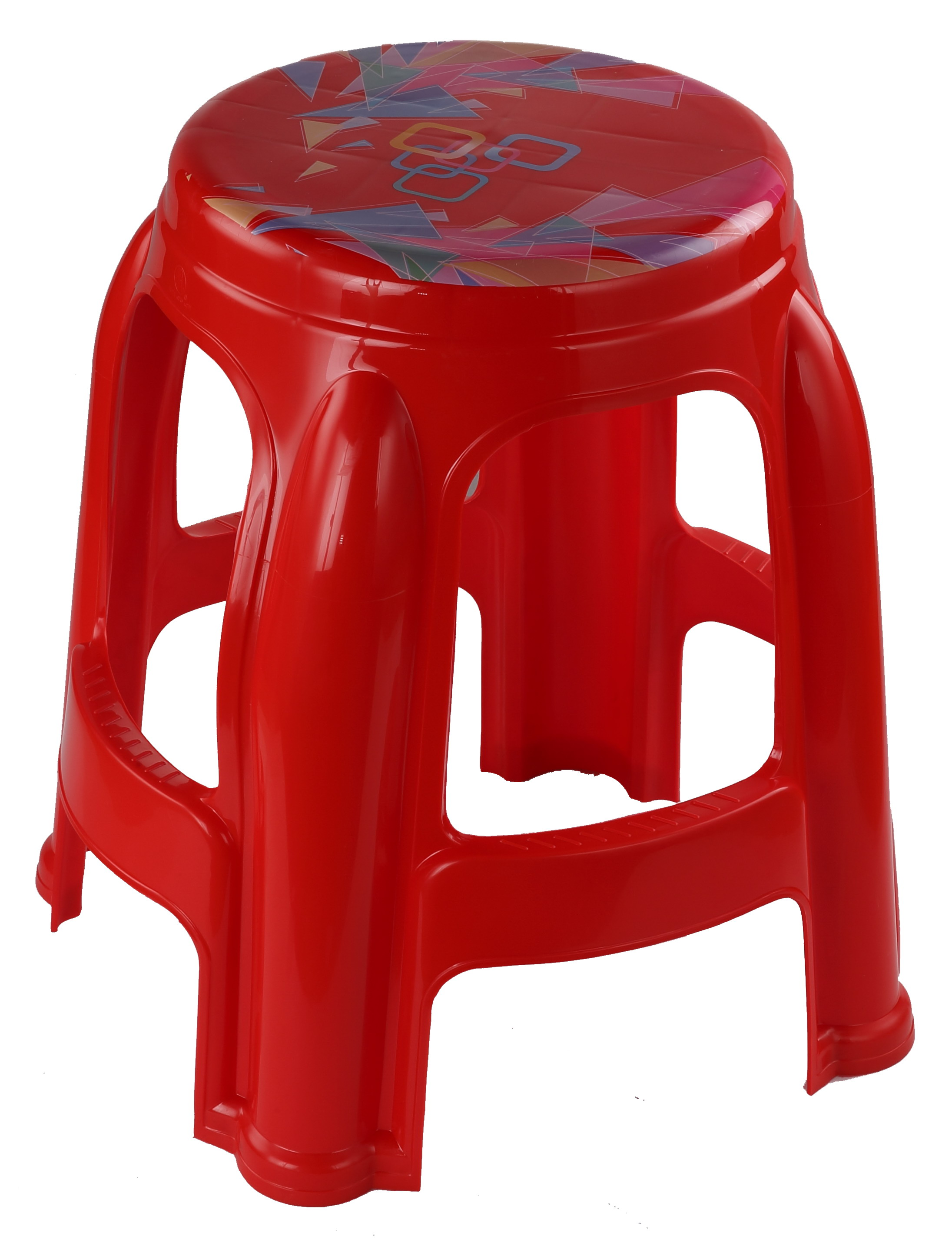 Round high Stool (Printed)