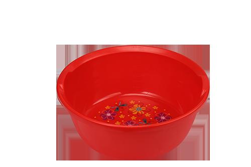 Printed Red Design Bowl