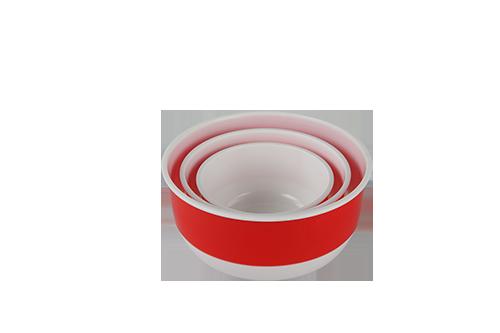 Two color Lily PP bowl 3pcs set