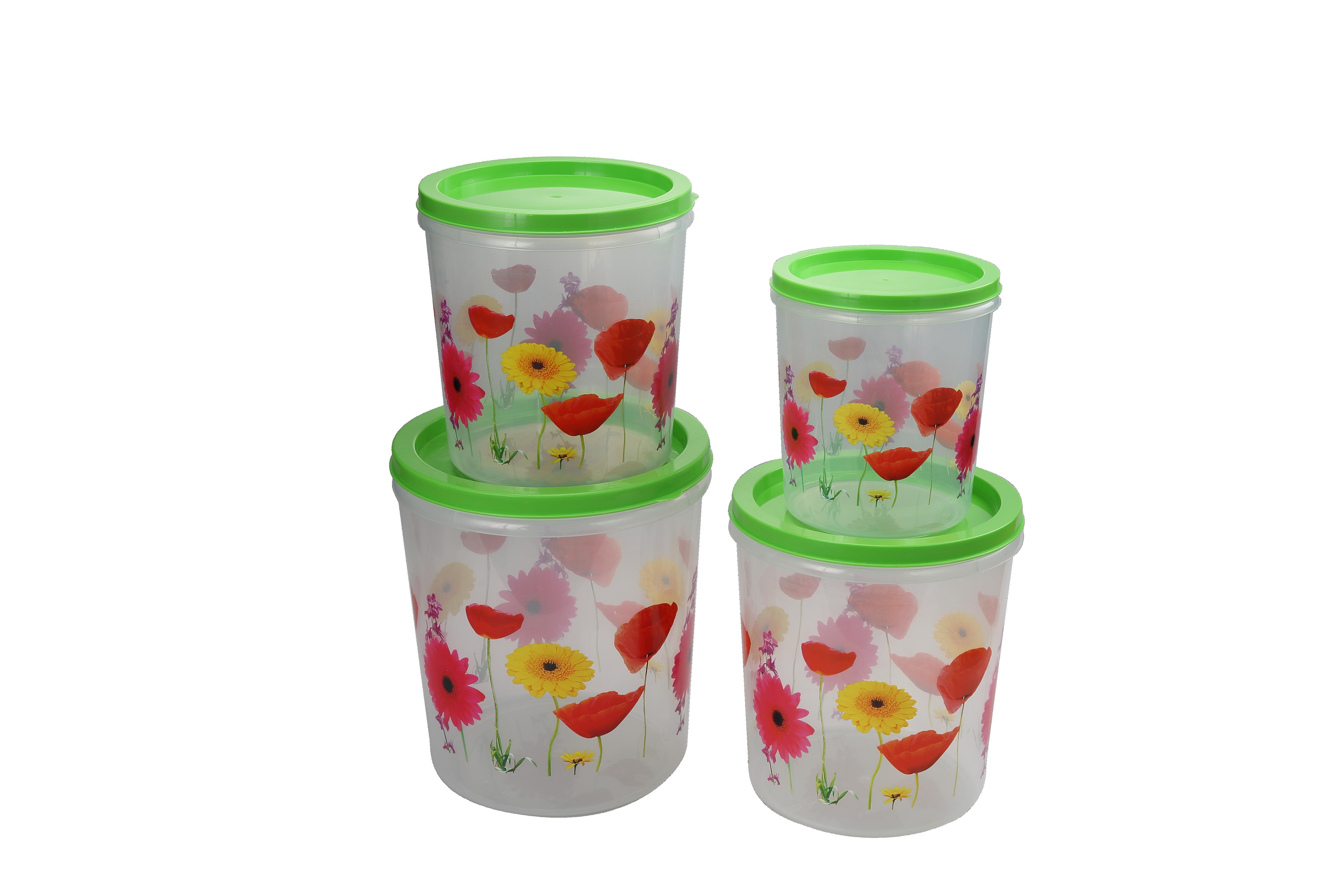 Sun Flower Container 4 pcs Set
