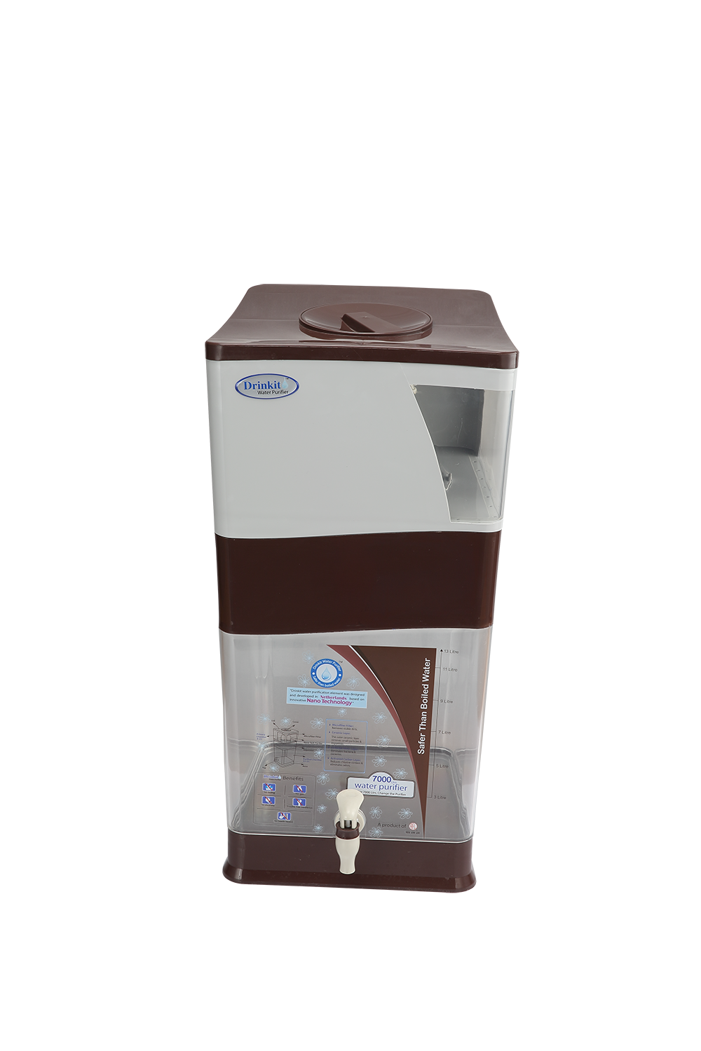 Drinkit Water Purifier – Brown